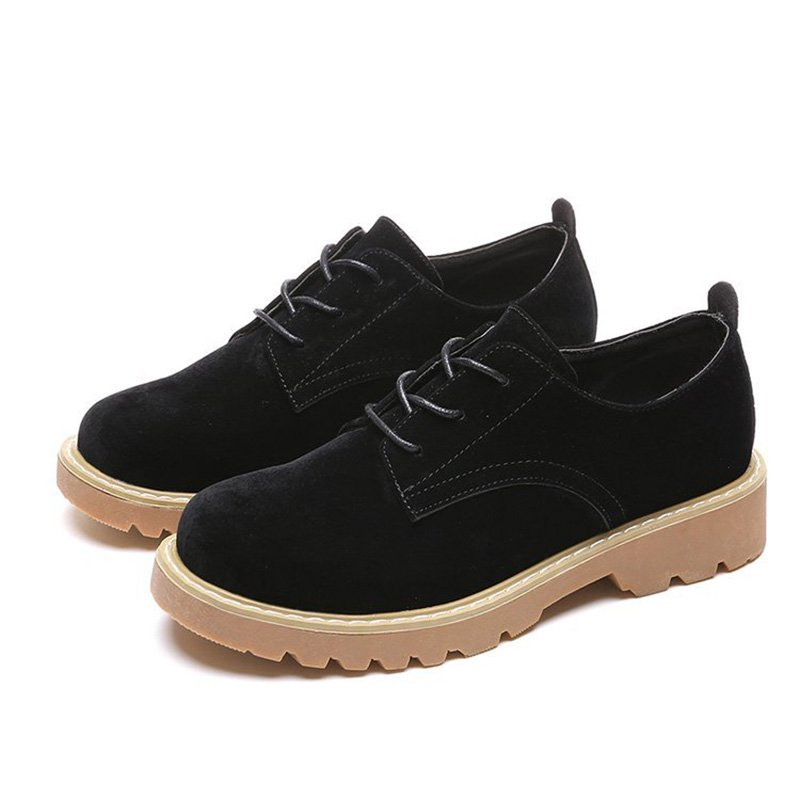 Women Classic Loafers Lace Up Casual Comfort Shoes