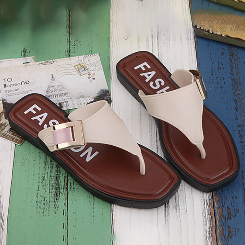 Beach PVC Daily Buckle Casual Slippers