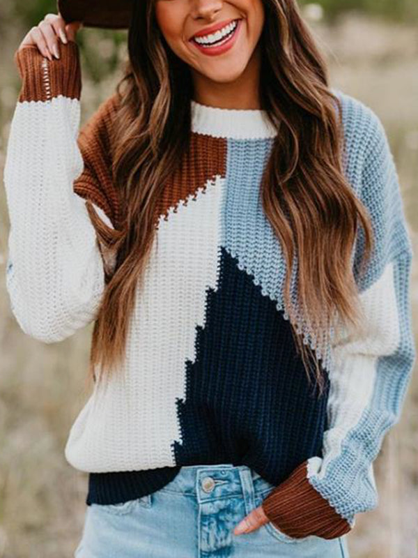 Long Sleeve Casual Crew Neck Sweater