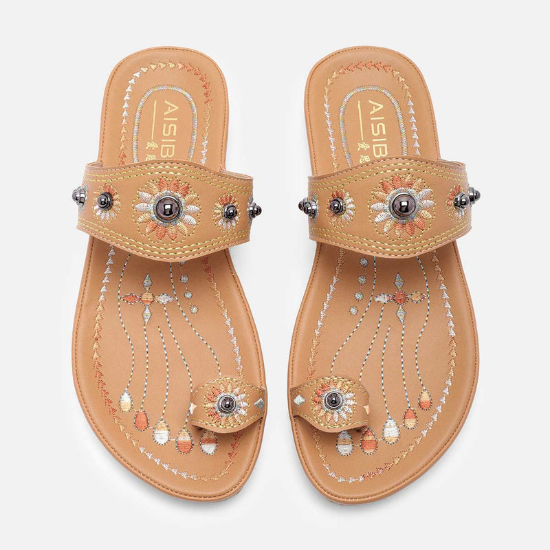 Summer Pu Flip-Flops Slippers Rivet Beach Shoes
