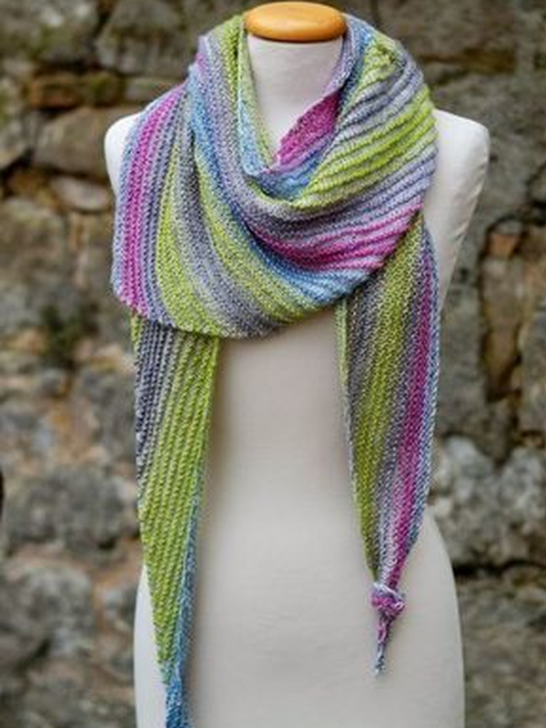 Knitted Color-Block Casual Scarves & Shawls