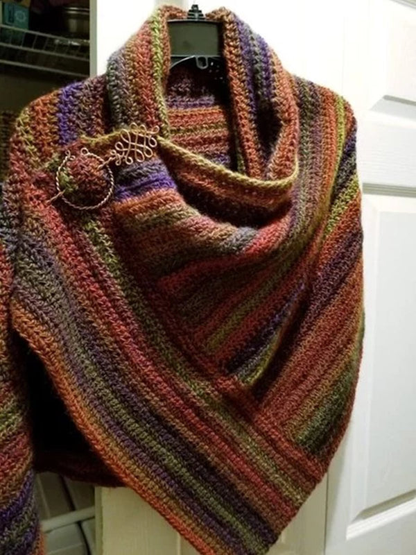 Brown Shift Ombre/tie-Dye Vintage Scarves & Shawls