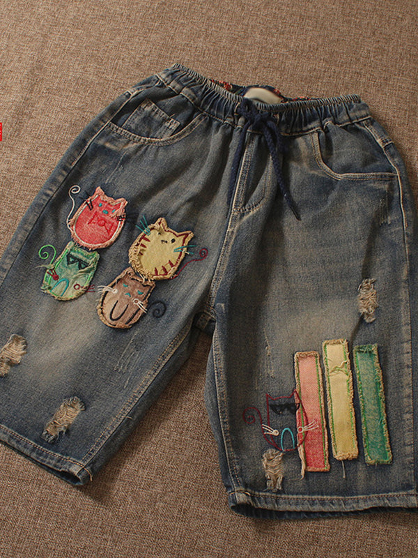 As Picture Casual Denim Pants
