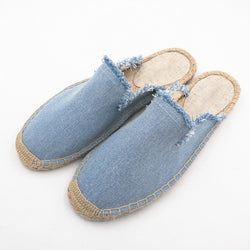 Women Fashion Solid Espadrille Flat Slippers Shoes