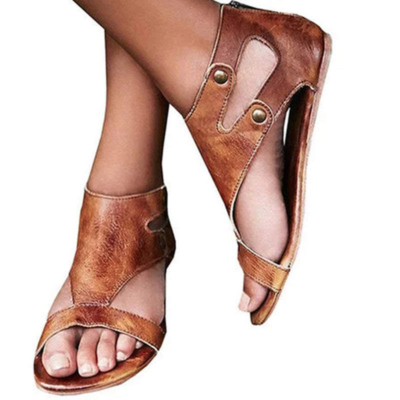 Womens Summer Gladiator Casual Flat Sandals