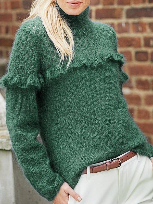 Turtleneck Vintage Shift Sweater