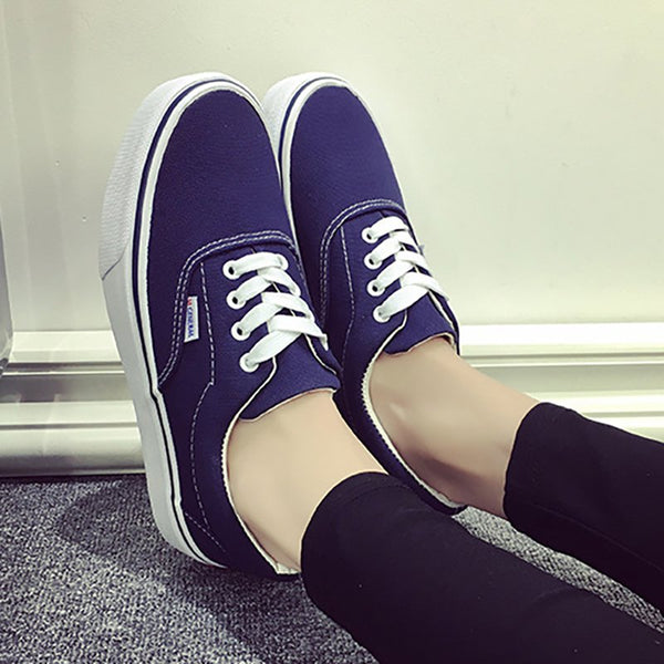 Slip On Canvas Vans Flat Heel Sneaker Lace-up Shoes Loafers