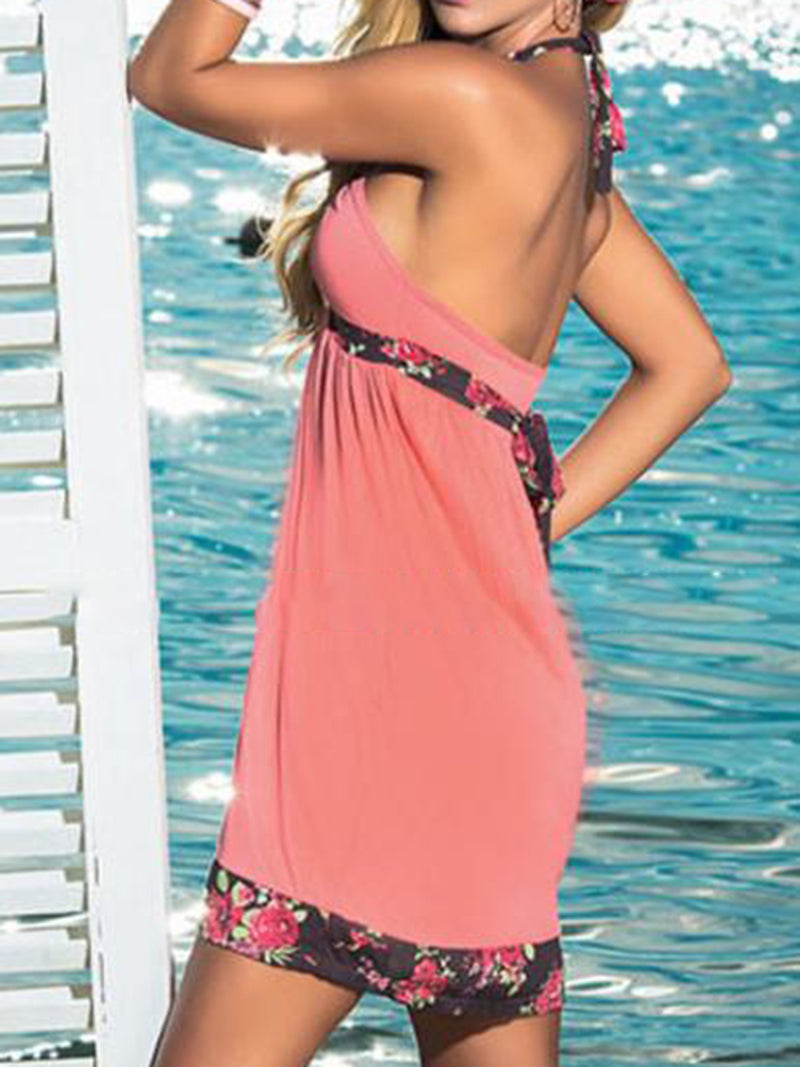 Summer Halter Paneled Dresses