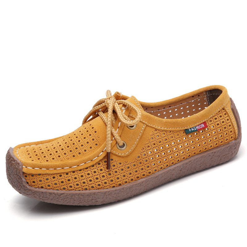 Women Nubuck Loafers Casual Comfort Plus Size Shoes