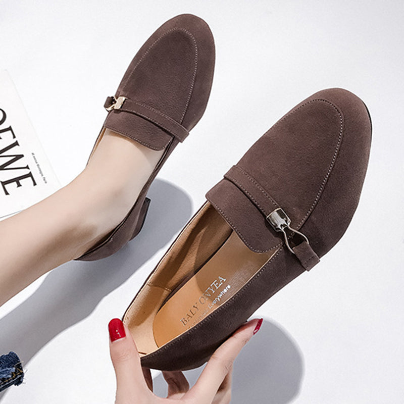 Women Artificial Suede Casual Loafers