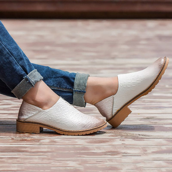Women Special Grain Loafers Casual Comfort Slip On Shoes