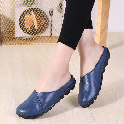 All Matched PU Flat Breathable Slippers Women's Shoes