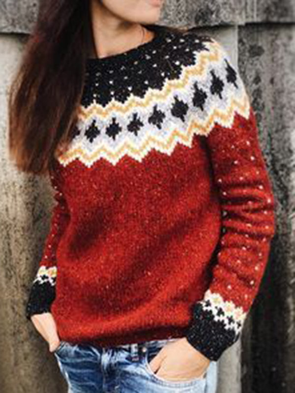 Women Knitted Stretchy Vintage Sweaters