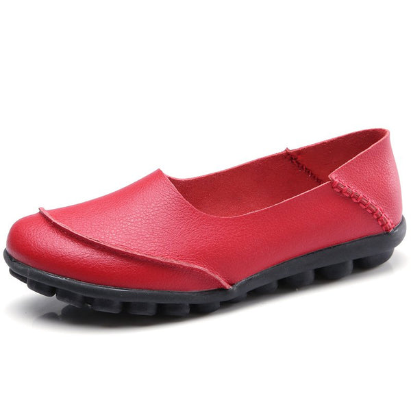 All Season Slip On Leather Daily Flats