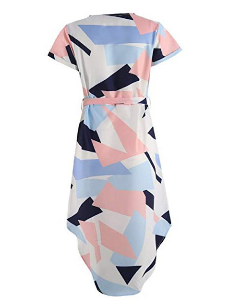 Crew Neck Women Summer Dresses Shift Daily Casual Printed Dresses