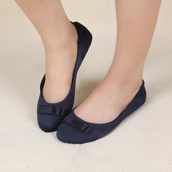 Women Loafers Flats Casual Bownot Slip On Shoes