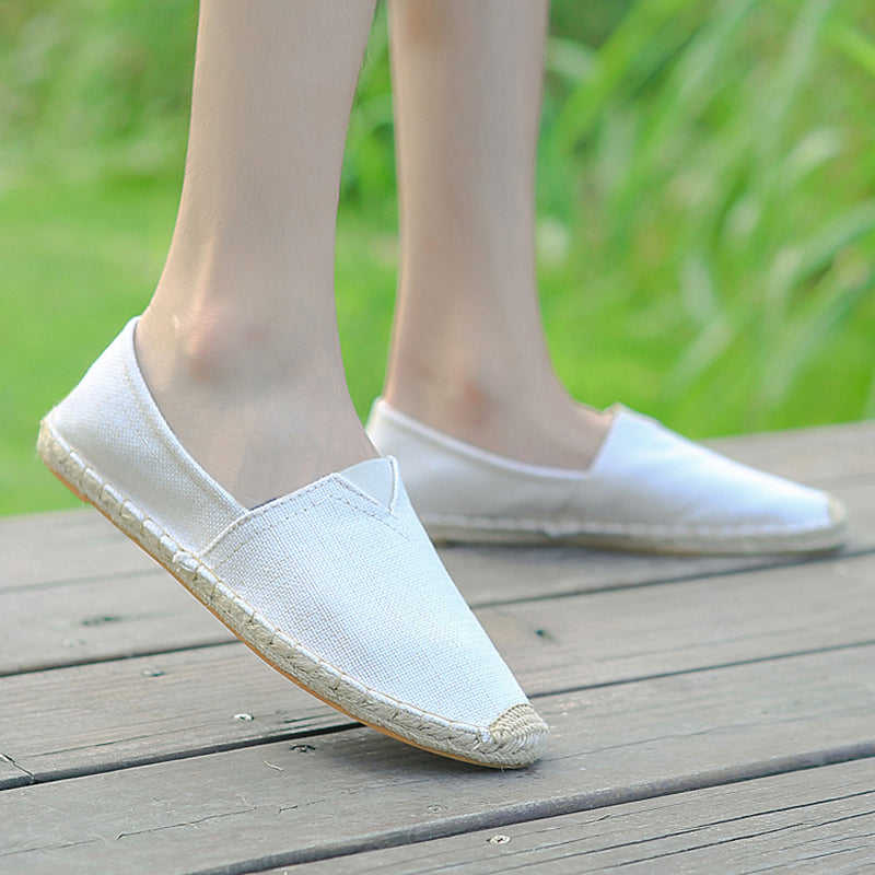 Women Canvas Flat Loafers Casual Comfort Plus Size Shoes