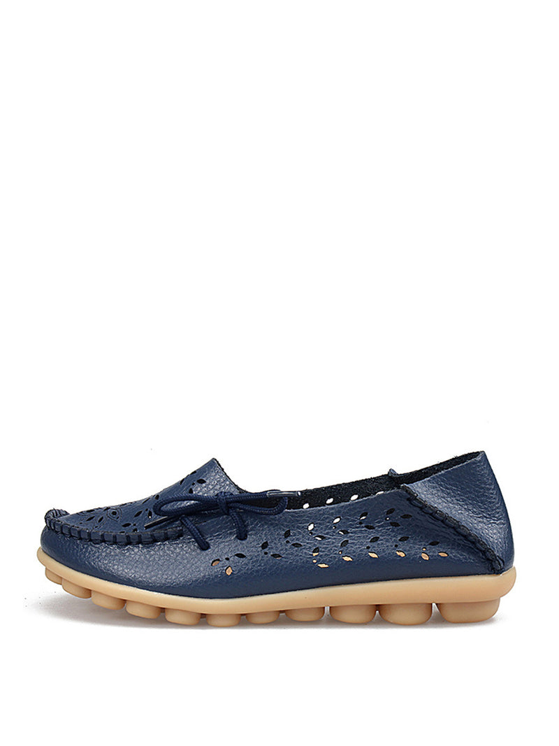 Hollow Out Flat Slip-On Women's Loafers