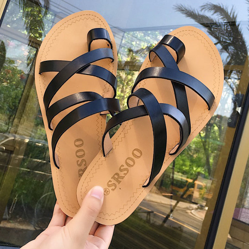 WomenToe Ring Daily Casual PU Slippers