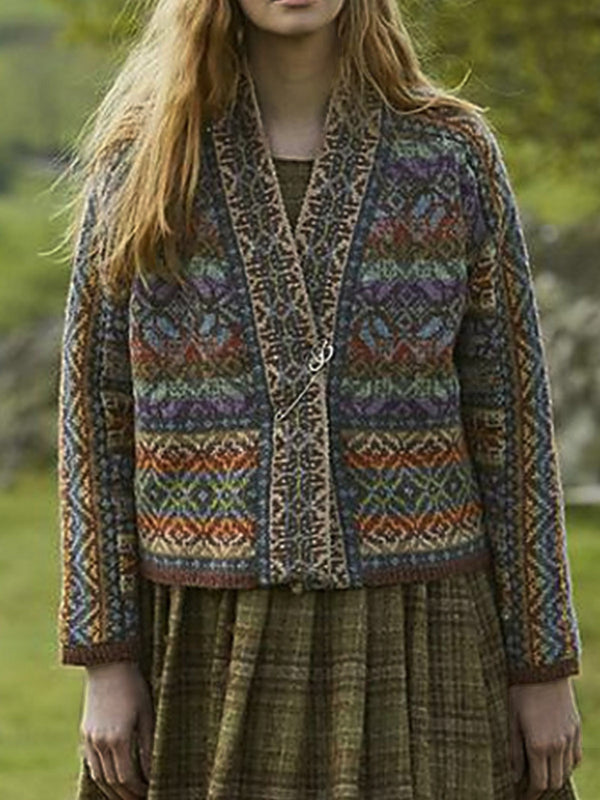 Multicolor Knitted Vintage Sweater