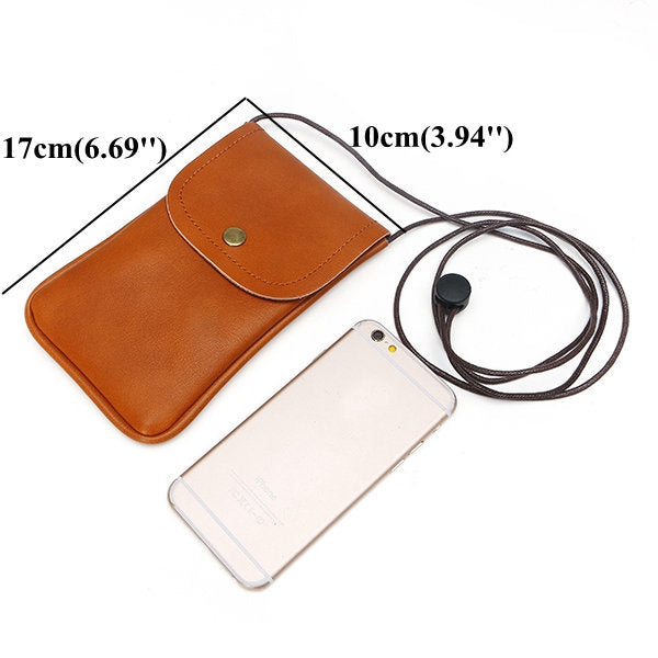 5.5 Inch Casual Lightweight Pu Leather Phone Bag Crossbody Bag