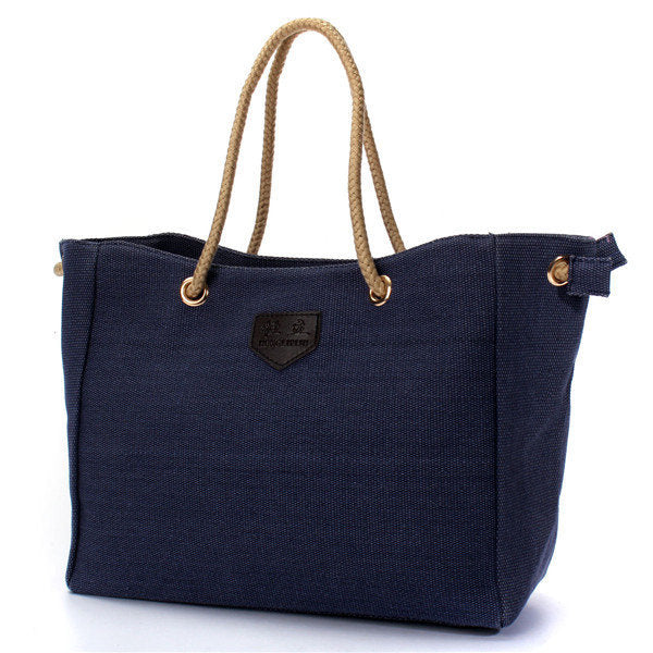 Women Casual High Capacity Canvas Shopping Handbag Tote Messenger Bag