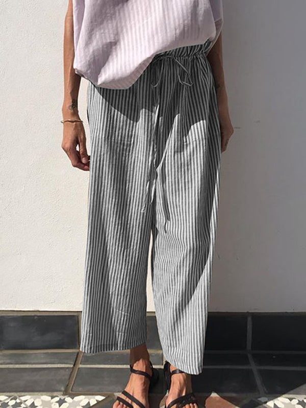Women Casual Striped Shift Pants