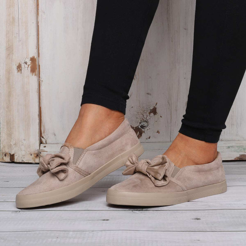 Comfy Slip On Loafers Bowknot All Season Flat Shoes
