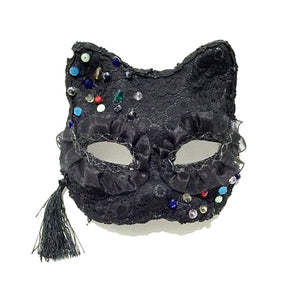 Steampunk Handmade Lace sexy cat Fox Cosplay Halloween Mask masquerade party mask