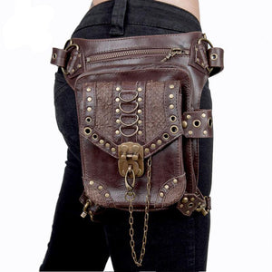 BLASTER Brown Leather Holster Hip Waist and Shoulder Bag
