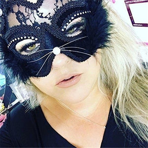 Venetian Cat Lace Eye Mask