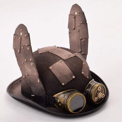 Steampunk Rabbit Ears Hat with Patch Glasses