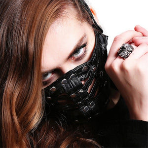 Rivet Punk Leather Mask