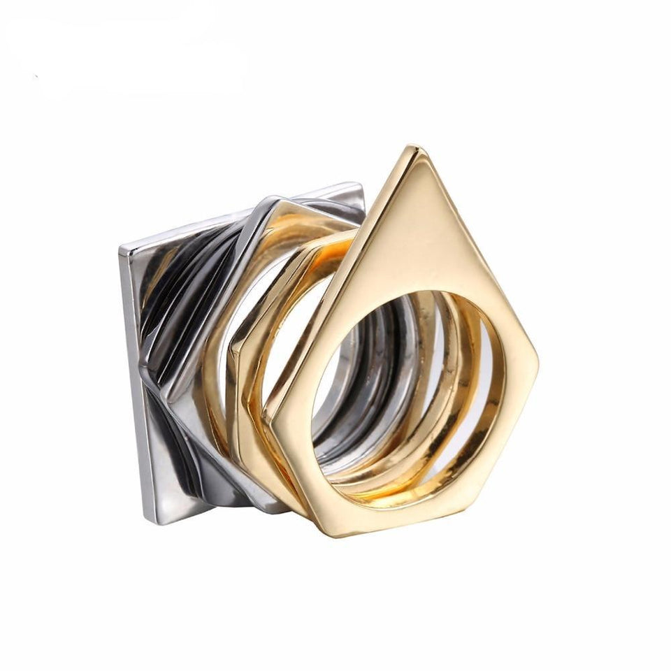 Geometric Steampunk Stacking Rings