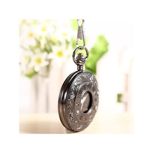 Pocket Watch Roman Pattern Steampunk Retro Vintage Quartz Roman Numerals Pocket Watch