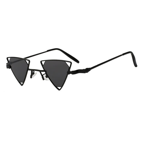 2018 Brand Designer Steampunk Unique Sun Glasses Men Triangle Shades Women Small Sunglasses Retro Vintage Eyewear UV400