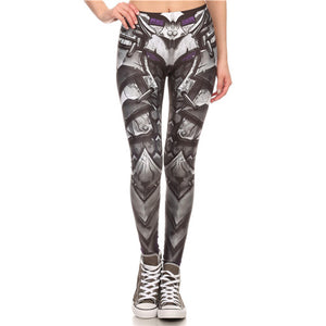 Steampunk Leather Mechanical Gear Fitness Cosplay Leggings for Women