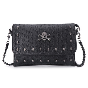 New 2018 Women Handbag Rivet Gothic Skull Bags Chain Messenger Crossbody Shoulder Bag