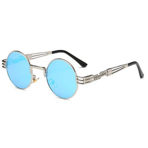 Steampunk Sunglasses Men Gothic Round Shades Retro Coating Glasses Fashion Women Steam punk Sun glasses Male Vintage Eyewear