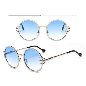 Sunglasses Women Brand 2018 Vintage Steampunk Claw Alloy Frame Round Sunglasses for Men Punk Eagle Claw Glasses Retro Shades