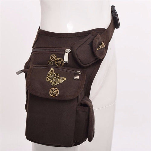 Vintage Gears Rock Gothic Waist Bag Steampunk Men Women Sexy Burlesque Costumes Corset Accessories