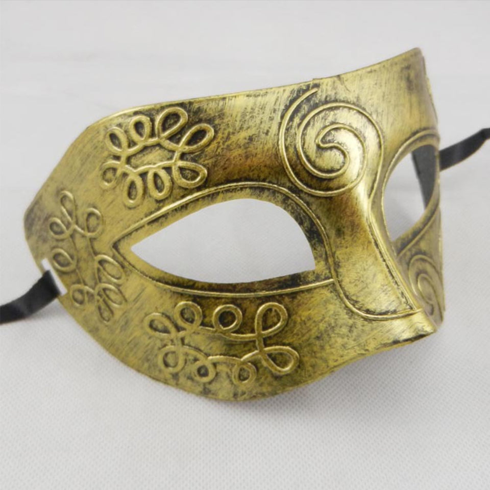 Antique Silver Gold Venetian Mardi Gras Masquerade Party Ball Mask