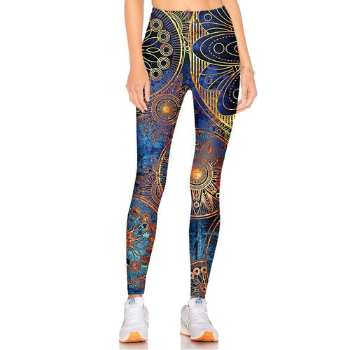 Steampunk Fantastic Pattern Fitness Cosplay Legging for Women