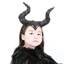 Black Queen Black Horns Masks