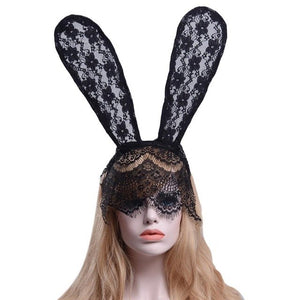 Rabbit Ear Delicate Lace Headdress
