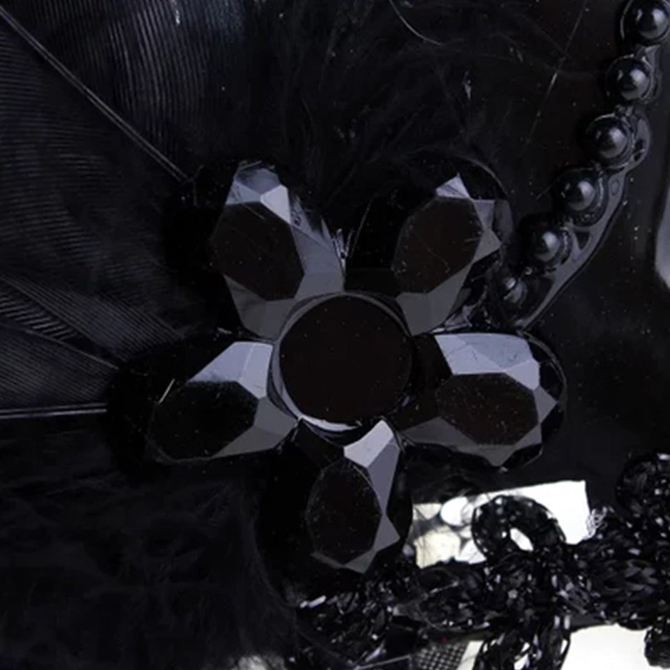 High Quality Sexy Mask Carnival Party Ball Mask Beautiful Mask with White Feathers  for Female