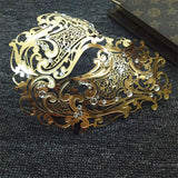 Carnival Party Metal Crystal Mask Women Silver Hollow Out Masquerade Eye Mask With Rhinestone Cosplay Gold Half Face Mask