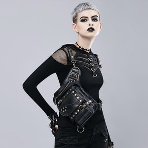 GOTH Leather Holster and Hip Bag Utility Belt