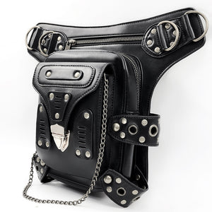 Women Men Unisex Vintage Steampunk Leg Bag Steam Punk Retro Rock Gothic  Shoulder Waist Bags Packs Motorcycle Bag Crossbody