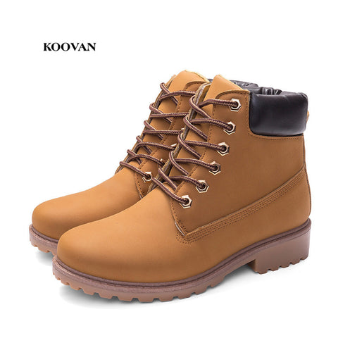 3853bd2fa0afde Koovan Women Martin Boots 2018 Autumn And Winter Martin Boots Large Size  36-41 Boots